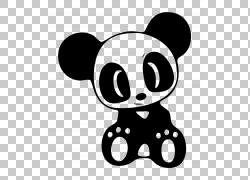 汽车大熊猫贴花日本国内市场贴纸,贴纸PNG剪贴画哺乳动物,carnivo