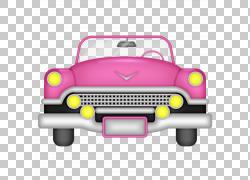 汽车,粉红色汽车PNG剪贴画水彩画,小型车,汽车事故,老式汽车,卡通