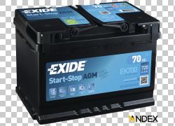 汽车VRLA电池汽车电池Exide电池,启动停止PNG剪贴画电子,汽车,摩