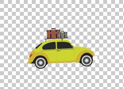 汽车大众甲壳虫度假汽车设计,旅行PNG剪贴画紧凑的车,老式汽车,生