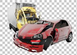 汽车交通碰撞事故人身伤害律师,汽车事故透明PNG剪贴画紧凑型汽车