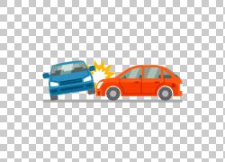 汽车交通碰撞事故车辆保险,交通事故PNG剪贴画紧凑型汽车,蓝色,汽