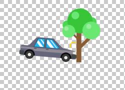 汽车交通碰撞版税 - 图标,演示车祸打树PNG剪贴画树枝,汽车,棕榈