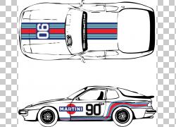 汽车保时捷944保时捷924保时捷911,侧车图形PNG剪贴画紧凑型汽车,