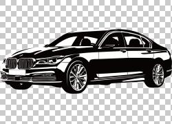 汽车宝马600豪华车,黑色和白色宝马PNG剪贴画紧凑型轿车,轿车,白