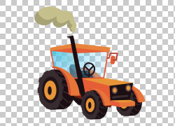 农用车辆橙色汽车PNG剪贴画橙色,汽车,运输方式,农业,卡通,车辆,