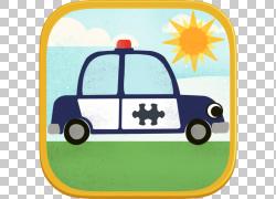 拼图儿童高清汽车游戏:儿童趣味汽车细节游戏,警车PNG剪贴画游戏