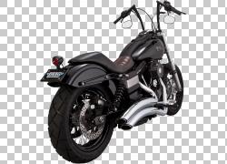 排气系统Harley-Davidson Super Glide Motorcycle Vance&Hines,