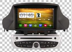 雷诺Mégane雷诺Fluence车载GPS导航系统,戴着太阳镜小狗PNG剪贴