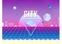 创意城市抽象海报