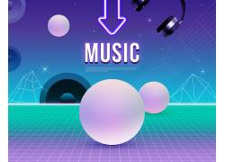 创意音乐抽象海报