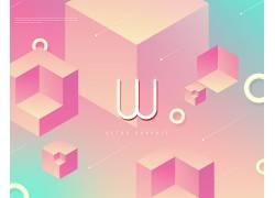 创意粉色抽象海报