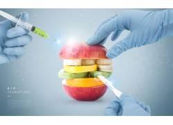 水果与医疗科技海报