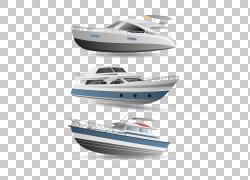 豪华游艇汽艇,游艇船,白色和蓝色游艇图PNG剪贴画白色,3d,生日快