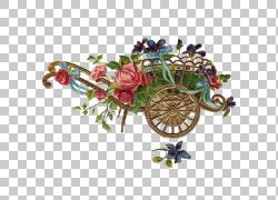 购物车和花卉装饰PNG剪贴画其他,插花,愿望,叶,汽车,爆炸,草,花,