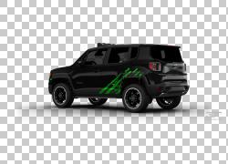 轮胎2015吉普Renegade汽车吉普牧马人,汽车PNG剪贴画紧凑型汽车,