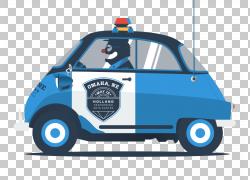 警车1993年路虎卫士插图,警车PNG剪贴画紧凑型汽车,蓝色,汽车事故