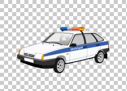 警车VAZ-2106,2017绘白色警车PNG剪贴画水彩画,紧凑型汽车,蓝色,