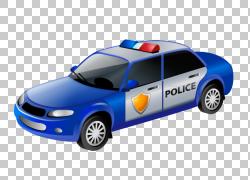 警车警察,创意手绘警察PNG剪贴画水彩画,紧凑型汽车,手,人,汽车,