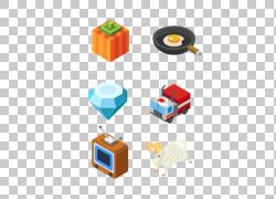 计算机动画3D计算机图形图形设计,小平面设计元素PNG剪贴画3D计算