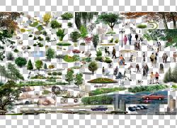 计算机文件,常见的风景PNG剪贴画模板,人民,城市,景观,汽车,风景,
