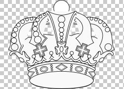皇冠着色书Tiara Drawing,皇冠PNG剪贴画白色,国王,汽车部分,公主