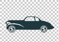 经典复古车线框PNG剪贴画框架,金色框架,时尚框架,复古,汽车,边框图片