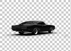 经典汽车模型汽车汽车设计技术,道奇Charger 1970 PNG剪贴画白色,
