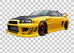 快速赛车日产Skyline GT-R汽车租赁,天际线PNG剪贴画游戏,电脑壁
