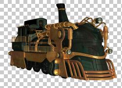 火车蒸汽朋克机车,蒸汽引擎PNG剪贴画桌面壁纸,运输,车辆,金属,信