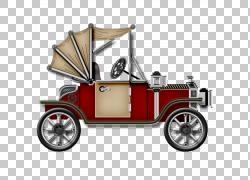 老式汽车,旧车材料,红色汽车PNG剪贴画紧凑型轿车,png材料,汽车事