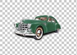 老式汽车复古风格经典汽车,经典汽车,经典绿色艺术PNG剪贴画汽车