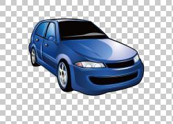 精致的汽车PNG剪贴画紧凑型轿车,玻璃,蓝色,轿车,服务,汽车,运输