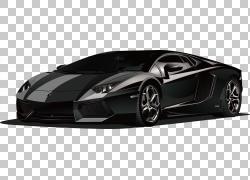 兰博基尼黑色跑车PNG剪贴画其他,卡车,汽车,运输方式,性能汽车,黑