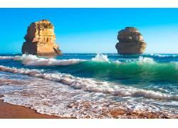 105831,地球,海滩,这,十二,倡导者,岩石,蓝色,天空,壁纸