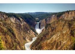 105852,地球,黄石公园,瀑布,瀑布,峡谷,瀑布,壁纸