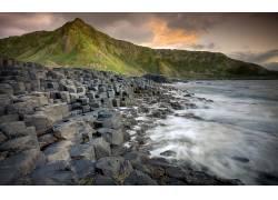 105870,地球,海滩,岩石,爱尔兰,山,壁纸图片