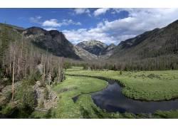 106273,地球,溪流,森林,山,山谷,科罗拉多,壁纸图片