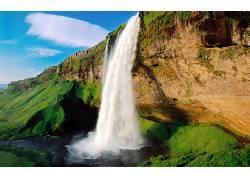 101649,地球,Seljalandsfoss,瀑布,冰岛,瀑布,壁纸图片