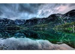 101704,地球,湖,湖,山,森林,反射,壁纸图片