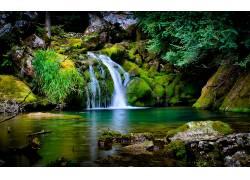101705,地球,瀑布,瀑布,森林,法国,壁纸图片