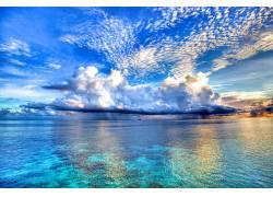 103593,地球,海洋,云,水,天空,自然,地平线,马尔代夫,壁纸