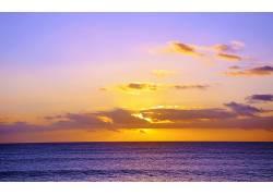 104211,地球,海洋,日落,云,彩色,夏威夷,壁纸图片