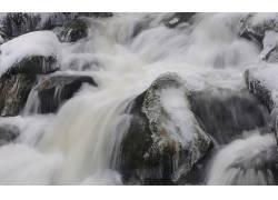 103732,地球,瀑布,瀑布,岩石,冬天的,冰,壁纸图片