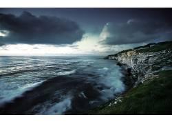 106607,地球,悬崖,海岸,海岸线,海洋,岩石,云,地平线,壁纸图片