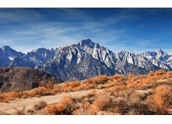 106966,地球,山,山脉,秋天,蓝色,天空,云,壁纸图片