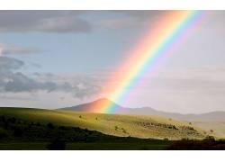 106979,地球,彩虹,山谷,小山,云,壁纸图片