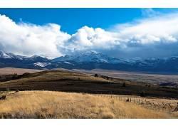 107011,地球,山,山脉,风景,草,领域,Malheur,国家的,森林,约翰,天图片