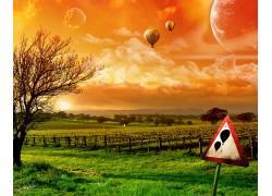 10797,地球,A,轻柔的,世界,热的,天空,激增,行星,云,太阳,风景,壁