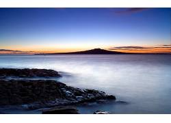 102482,地球,日出,海滩,海岸,山,云,天空,海洋,壁纸图片